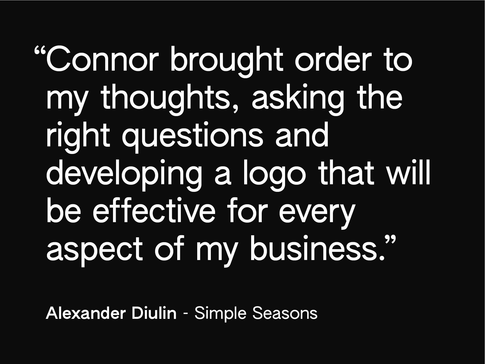 alexander diulin simple seasons testimonial leather work craft connor fowler cfowlerdesign visual identity designer logo branding