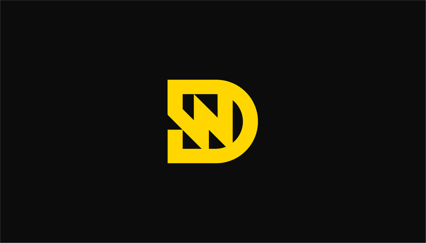 dw letter logo design concept in yellow on black for Dain Walker by Connor Fowler cfowlerdesign visual identity