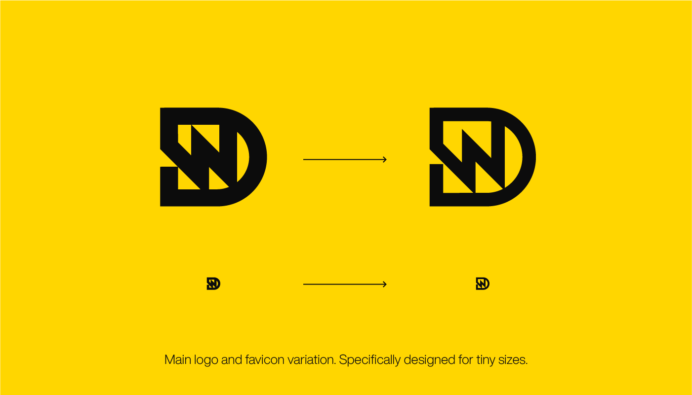 DW letter Logo design and favicon icon for Dain Walker by Connor Fowler cfowlerdesign