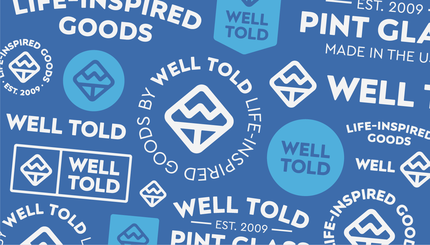 well told logo badge concept designs outdoor branding visual identity by connor fowler cfowlerdesign