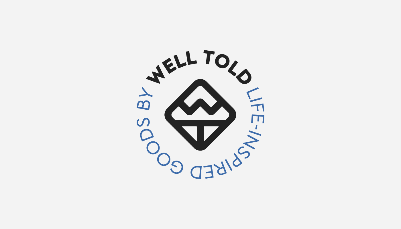 well told life inspired goods home bar etched maps glass logo design badge concept visual identity by connor fowler cfowlerdesign